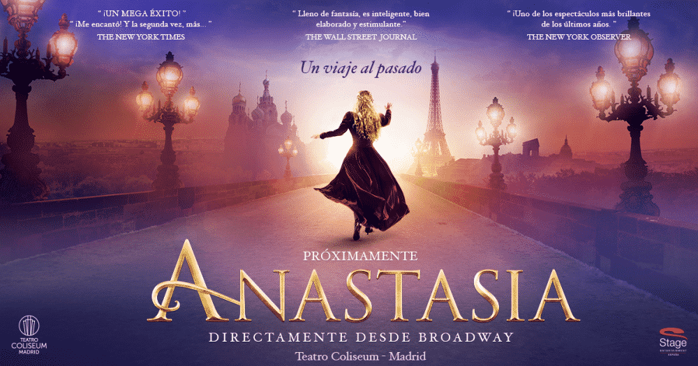 Cartel del Musical Anastasia, Madrid