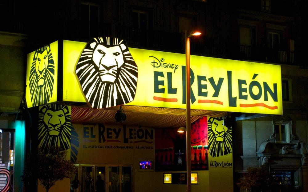 Cartelera musical El Rey León en Gran Vía, Madrid