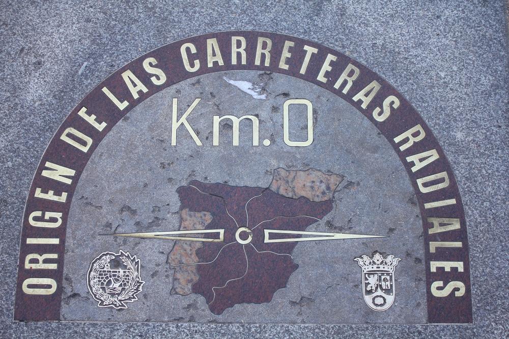 Placa Kilómetro Cero Madrid Puerta de Sol