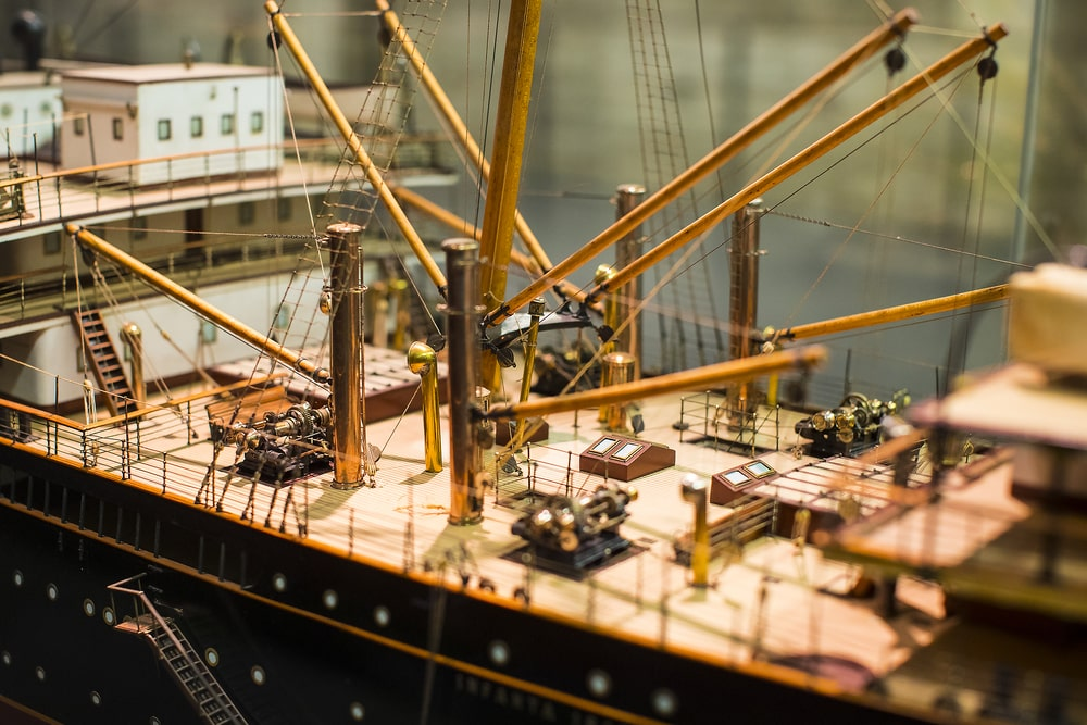 Maqueta detalle barco Museo Naval en Madrid