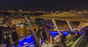 Foto nocturna terraza Madrid
