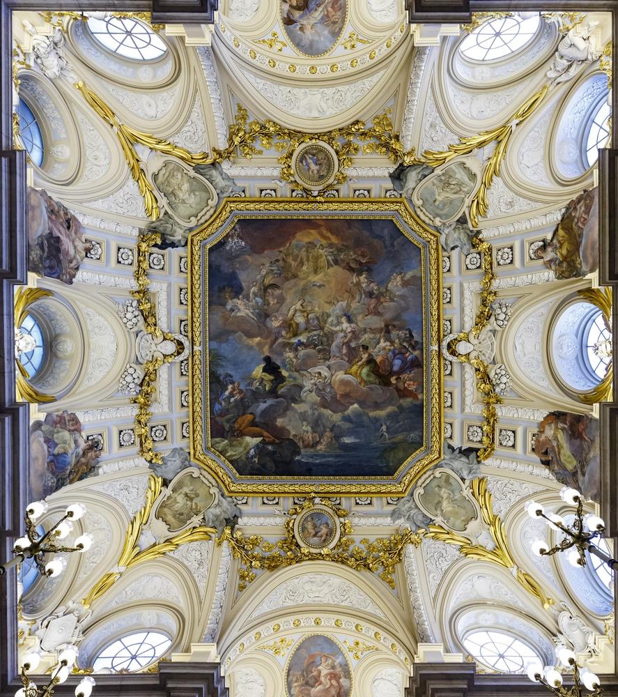 Frescos del artista Corrado Giaquinto en uno de los salones del Palacio Real de Madrid