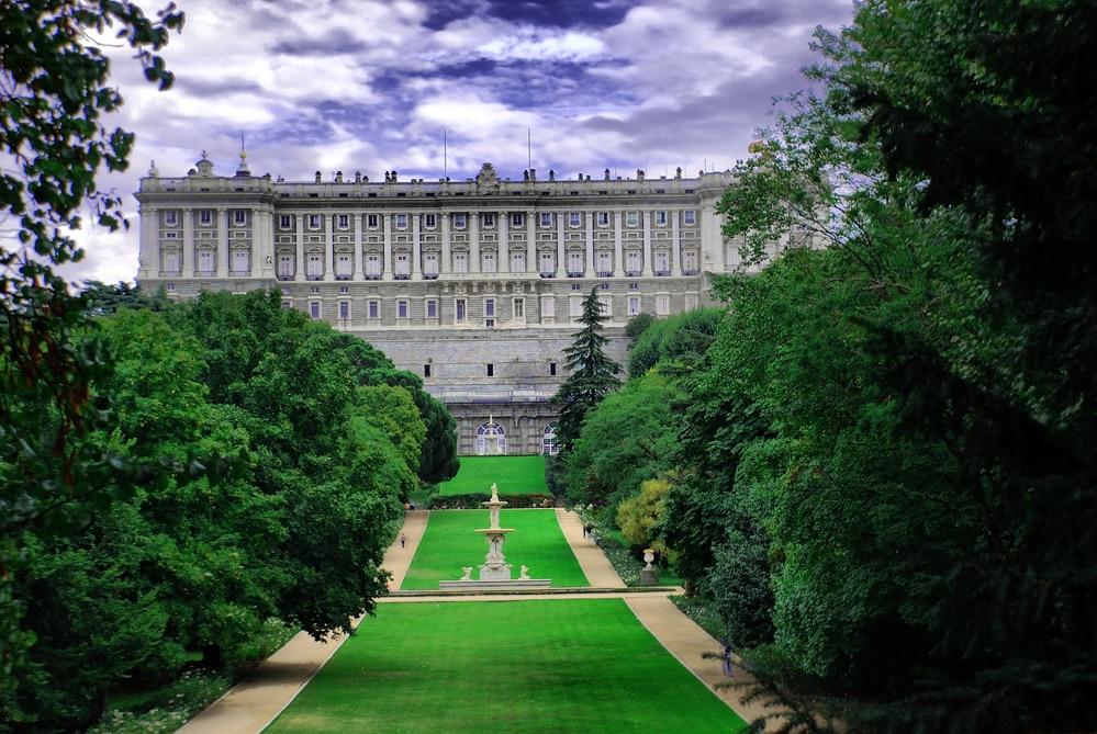 Jardies Campo del Moro con Palacio Real de fondo