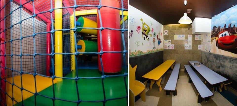 Juegos para niños en restaurante