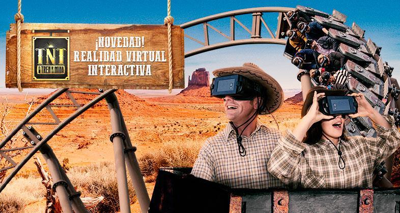 Tren de l mina virtual en Parque de Atracciones