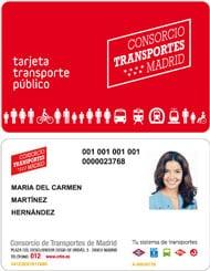 Tarjeta personal de Transporte Público de Madrid