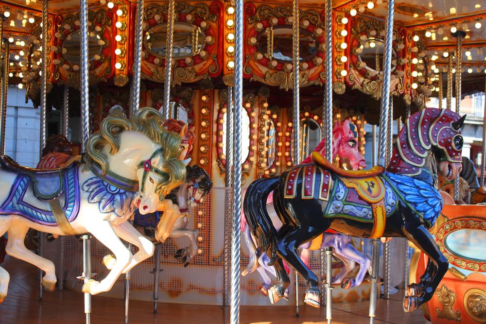 Tíovivo parque atracciones Madrid