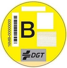 Etiqueta Amarilla Ambiental DGT