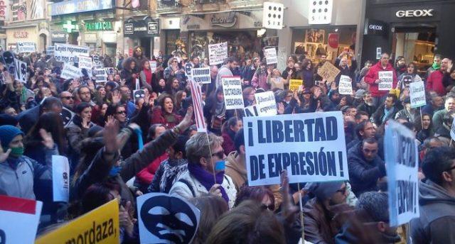 Manifestaciones en Madrid contra la ley Mordaza