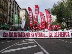 Manifestación Marea Blanca defensa Sanidad Publica Madrid